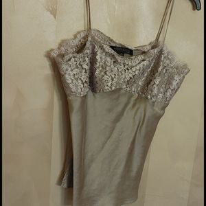 Silky and Lace Brown camisole